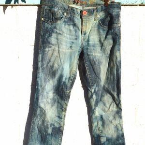Mavi Jeans Tie Dye Reverse Bleach Sexy Hip Huggers